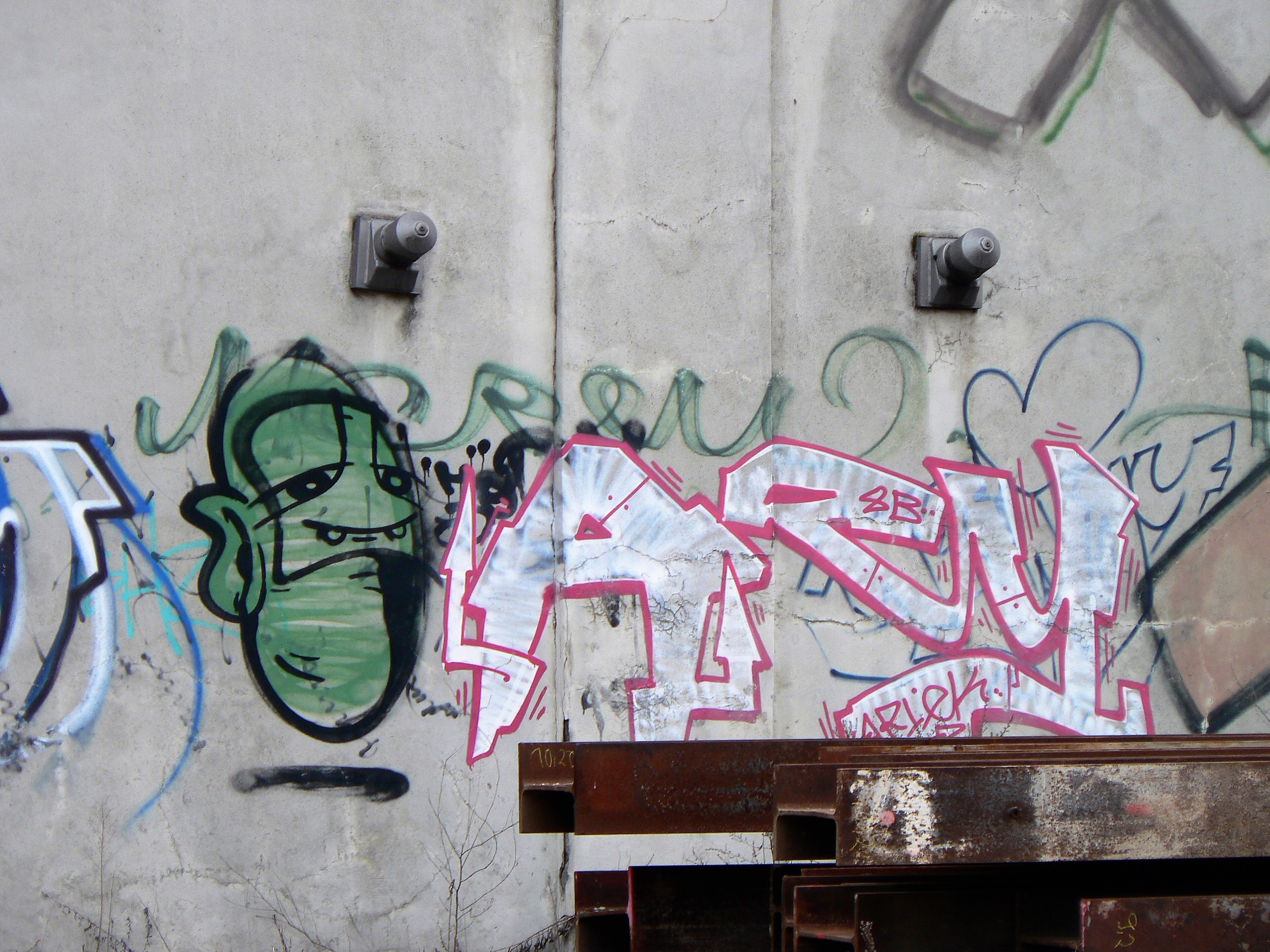 03155 | berliner mauern | berlin, graffiti, green head