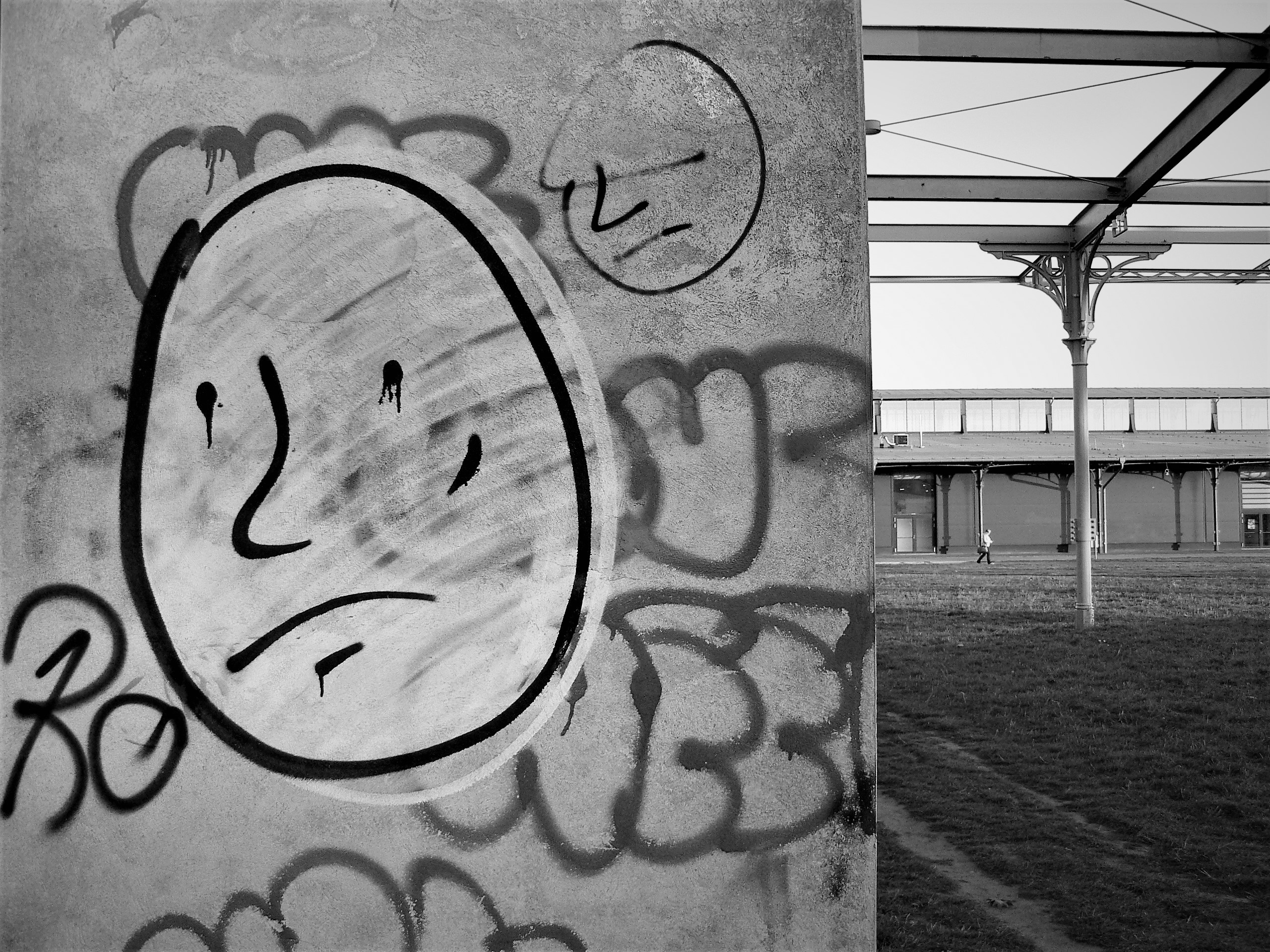 03169 | berliner mauern | berlin, black and white, graffiti