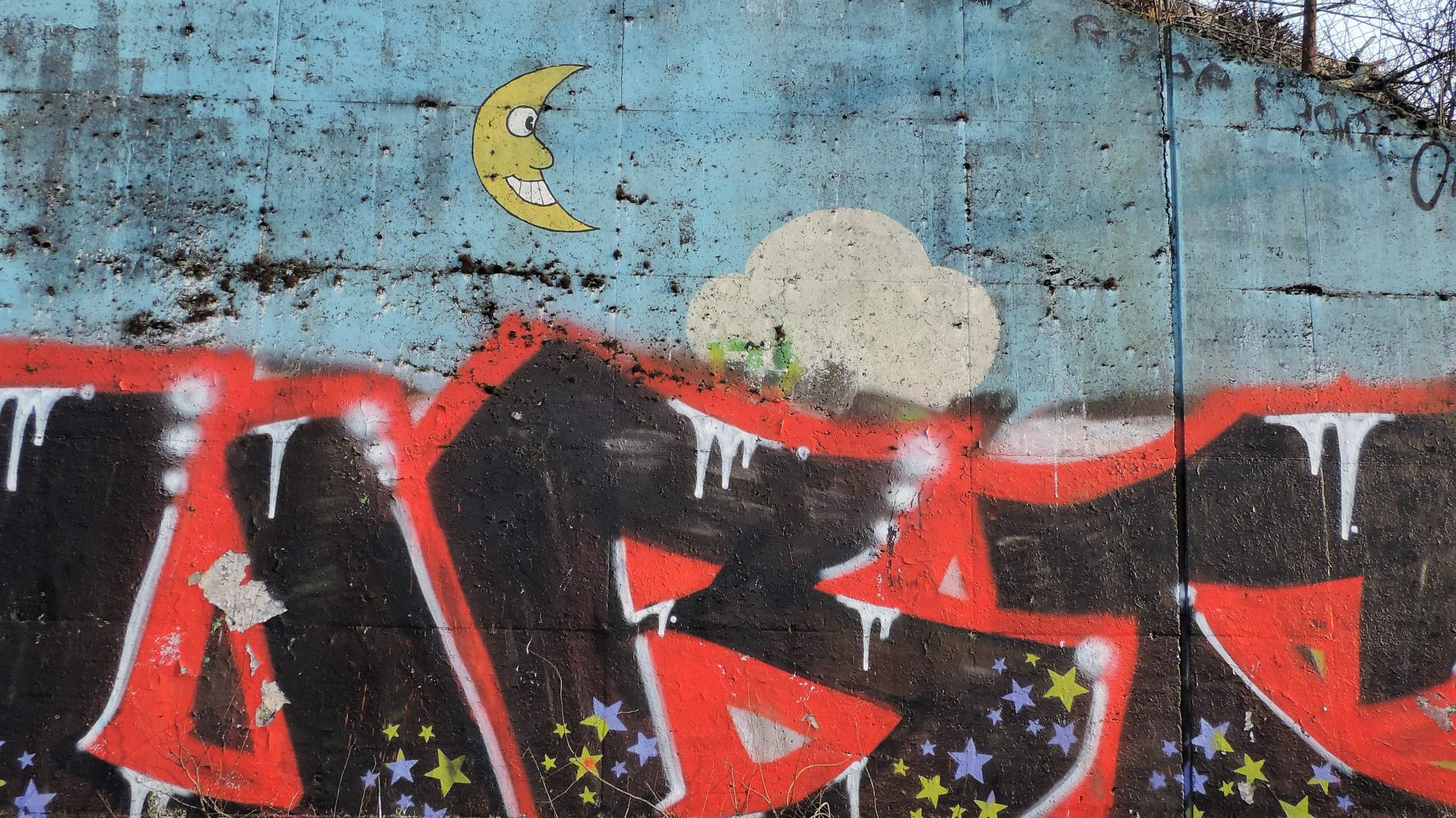 05045 | berliner mauern | berlin, graffiti, i see the moon